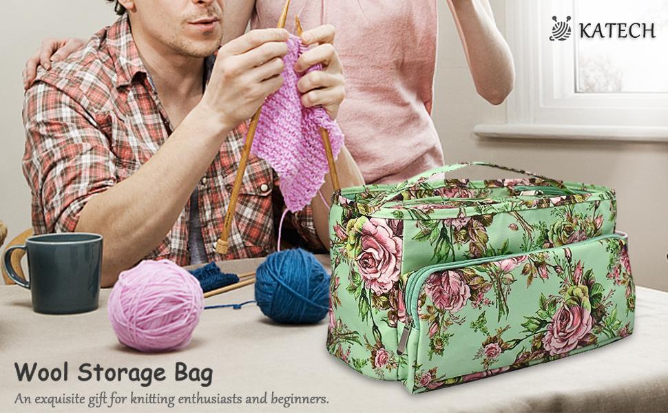 sac tricotage rangement aiguilles a tricoter