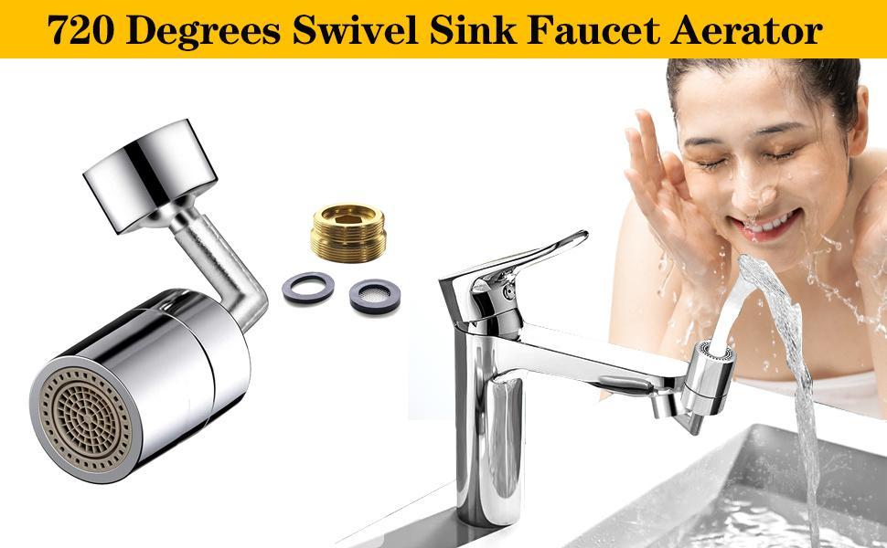 720° Rotatable Faucet Sprayer Head