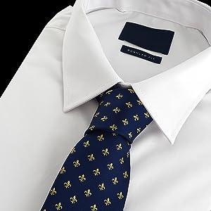 Corbata de seda con diseño de flor de lis, 100 %, diseño ...