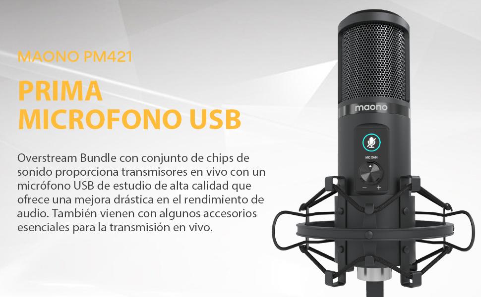 prima microfono usb para pc gamer
