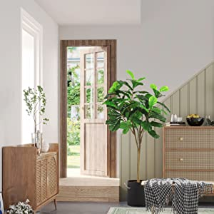 fiddle leaf fig tree artificial fiddle tree faux trees artificial tree fake plants indoor tall