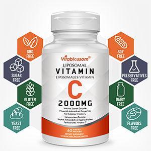Superior Absorption Liposomal Vitamin C Softgels 2000mg, Antioxidant Supplement for Immune System