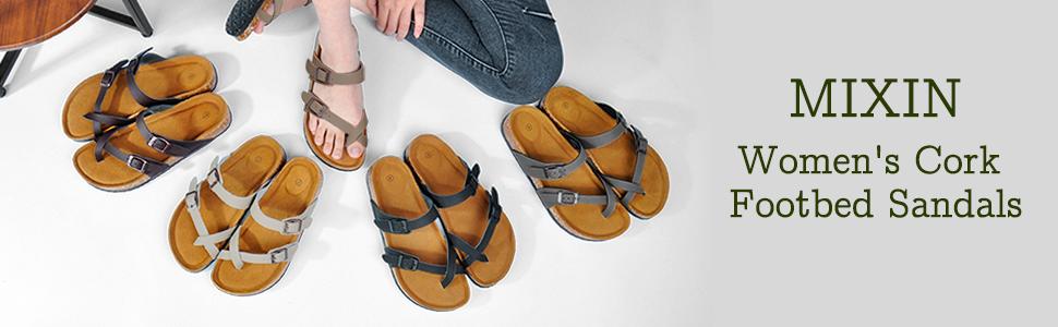 womens cork sandals