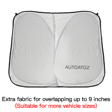Extra fabric for overlapping