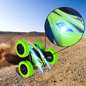 Rcfunkid remote control stunt car has  two cool lights