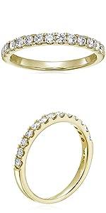 Vir Jewels 1/2 cttw Diamond Wedding Band 14K Yellow Gold 13 Stones Prong Set Round