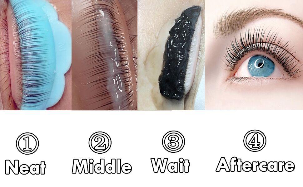 eyelash lift and tint at home