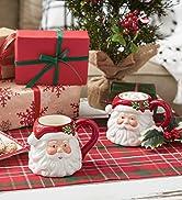 Santa ceramic mug set
