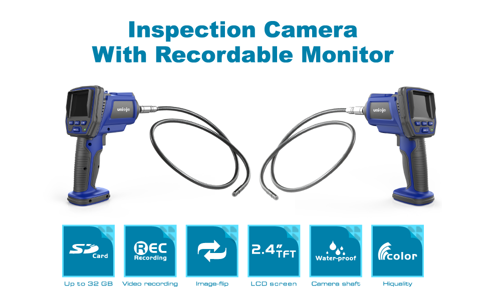 UNIOJO inspection camera with recordable monitor