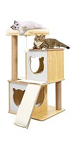 modern cat tree tower