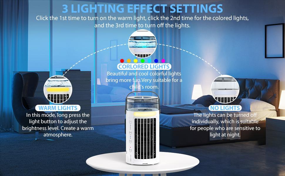 3 modes d'éclairage
