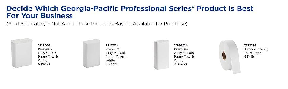 paper towel toilet paper mfold georgia pacific 21000 signature acclaim envision kimberly clark scott