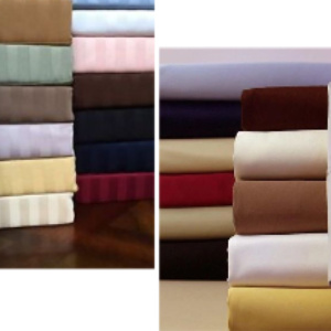 Sheets Set, Either Solid or Striped, Color Sent based on Availablility