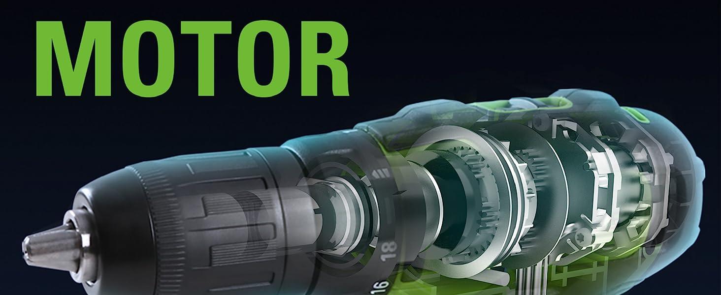 Brushless Motor provide 2x More Torque