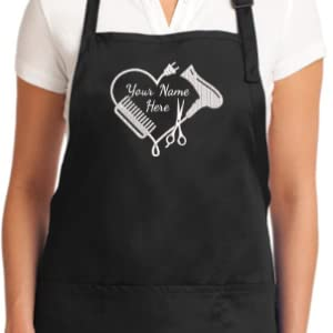 Hair Stylist Apron with embroidered design Heart