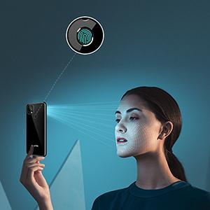 Face ID and Fingerprint Unlocked Smartphone