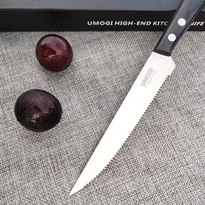 steak knife set of 6 black 300