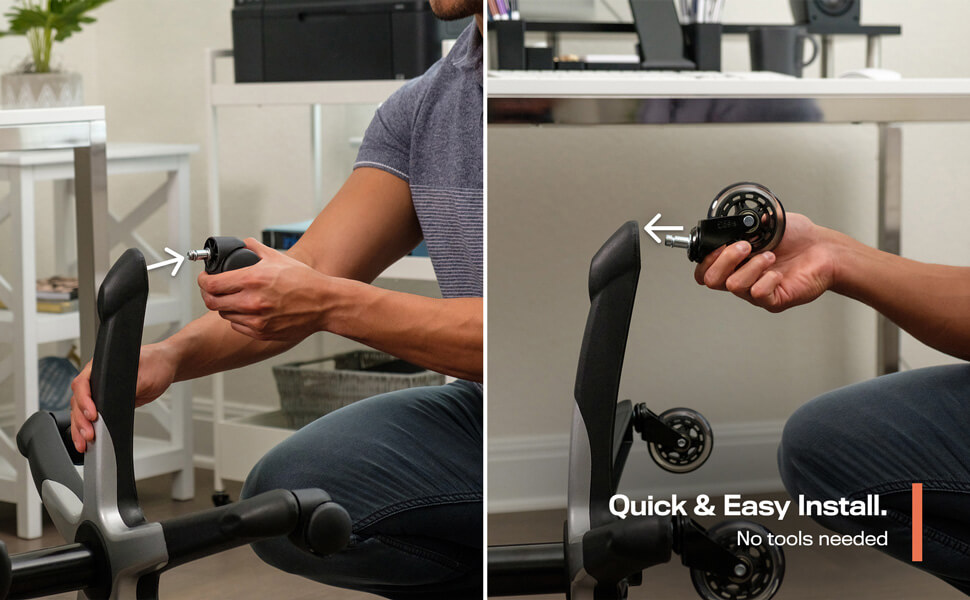 remove and replace chair wheels