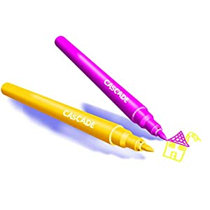 BIC Kids Cascade Colouring Marker for kids has a fine tip for drawing and colouring