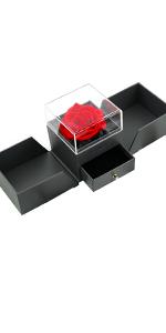 rosa stabilizzata fiori stabilizzati mincheda rosa eterna con anello S925 regolabile donna