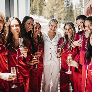 SWOMOG Womens Satin Pajamas 4pcs Pajama Set