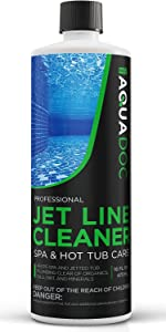 Spa jet line cleaner for hot tubs. Spa purge for system flush.
