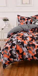 Camouflage Bedding Duvet Cover Set