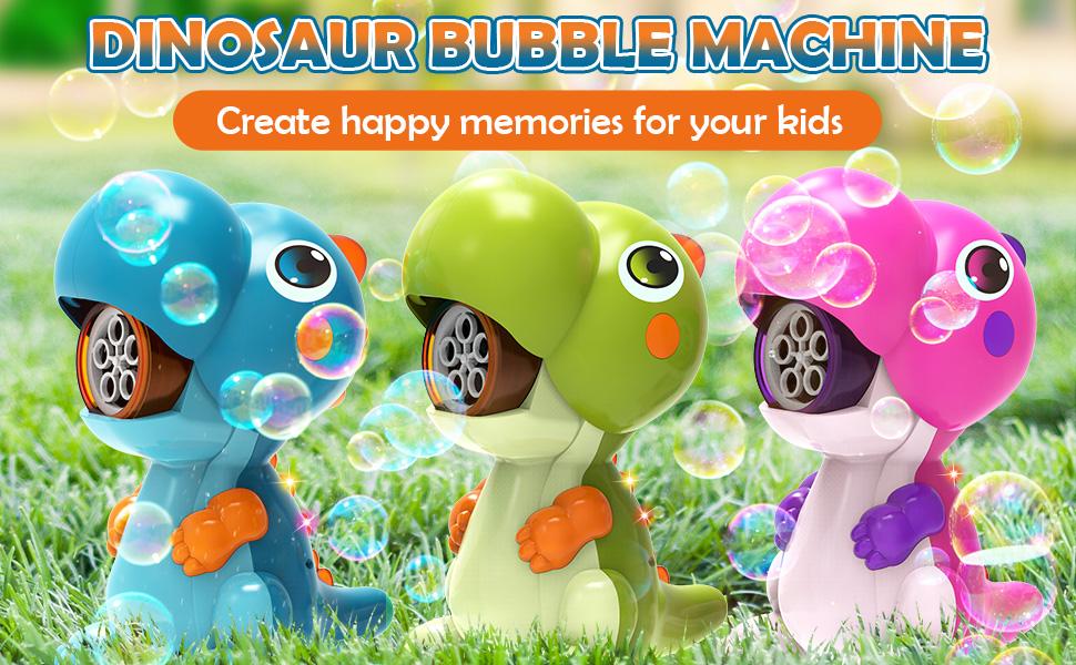 dinosaur bubble machine maker