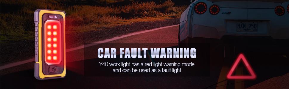 red light warning