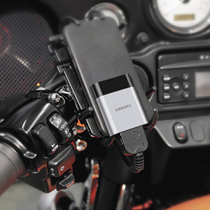 Works with Victory motorcycles iPod 30-Pin connector.