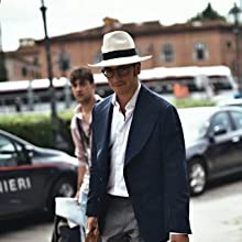 straw hat for suit