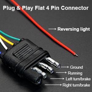 No Drill Install. Well conductive standard 4-pin flat plug
