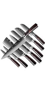 8pcs Ensembles de Couteaux de Cuisine