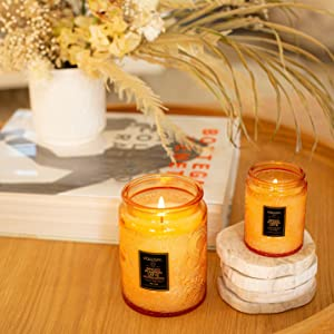 Spiced Pumpkin Latte Large Jar and Small Jar Candles
