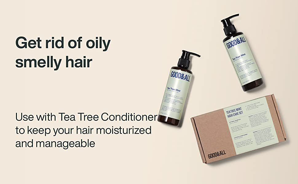 GOODamp;ALL tea tree mint shampoo and conditioner for dry itchy scalp and oily hair