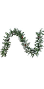 6.75' x 14quot; Flocked Angel Pine with Pinecones Artificial Christmas Garland - Unlit