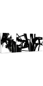 Black amp; White Abstract Canvas Wall Art