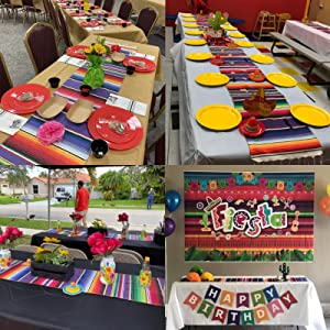 Mexican table runners perfect for wedding party banquet table!