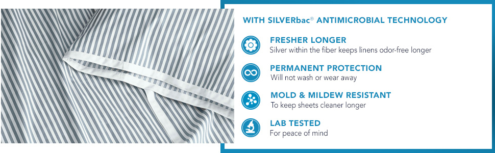 With SILVERbac Antimicrobial Technology