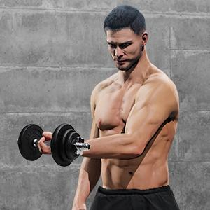 DUMBBELL WITH MODEL