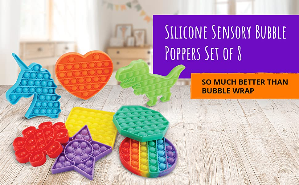 Silicone Sensory Bubble Poppers Set of 8