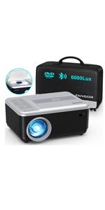 Mini portable projector with dvd player