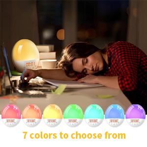 7 couleurs différentes de lumière