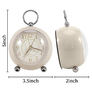battery alarm clock small