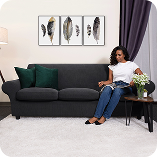 Gray Couch Cover