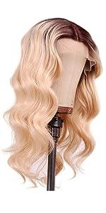 blonde short lace wig