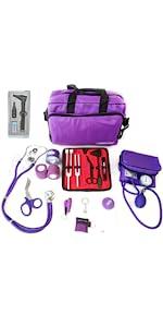 ASATechmed Nurse Starter Kit - 18 Pieces Total (Purple)