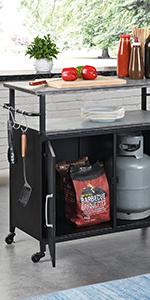 outdoor cart, grilling cart