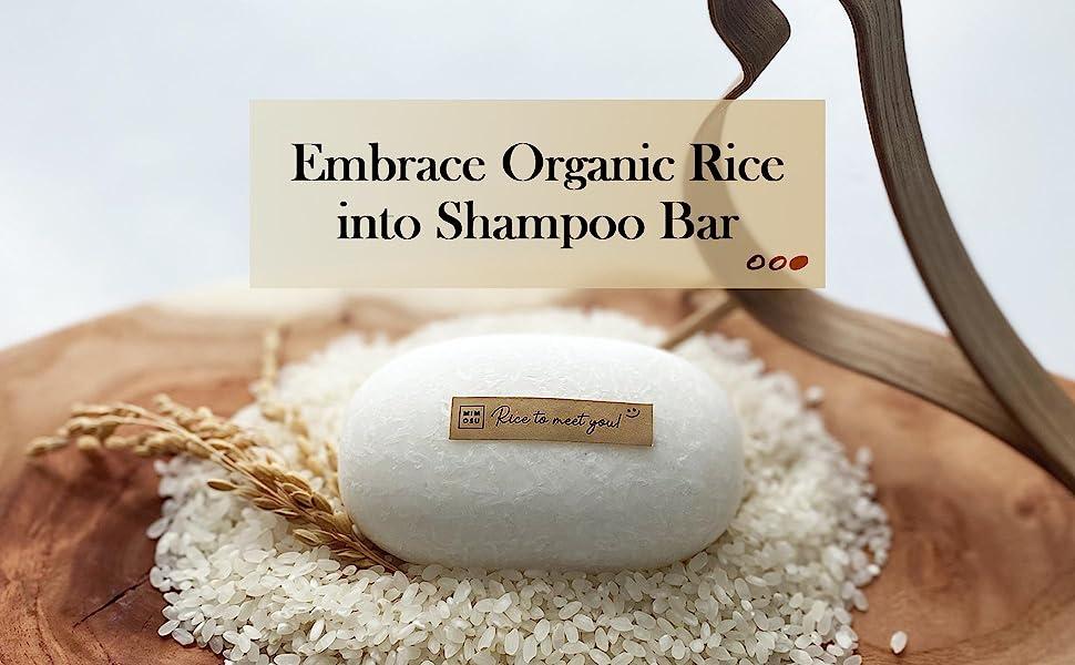 Embrace organic rice into shampoo bar