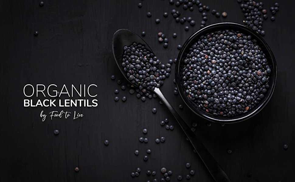 organic black lentils by food to live